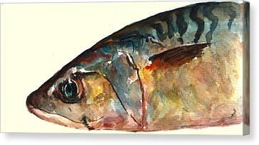 Mackerel Fish Canvas Print by Juan  Bosco
