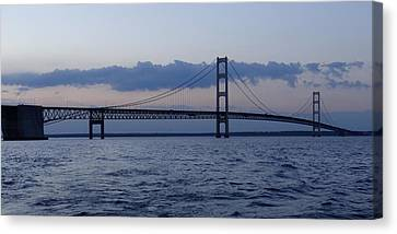Mackinac Bridge At Eventide Canvas Print by Keith Stokes