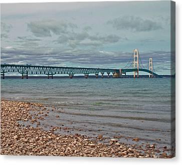 Mackinac Bridge Canvas Print by Brady D Hebert