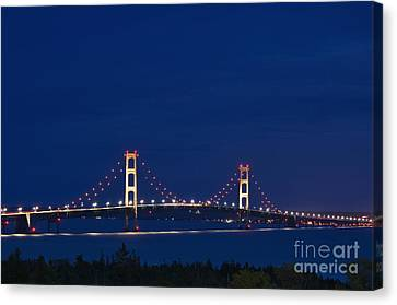 Mackinac Bridge - D002813 Canvas Print by Daniel Dempster