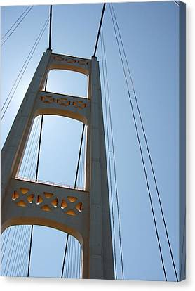 Mackinac Bridge Canvas Print by Michelle Calkins