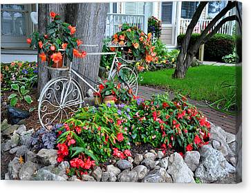 Mackinac Island Garden Canvas Print by Matthew Chapman