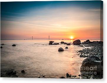 Mackinac Sunrise Canvas Print by Larry Carr