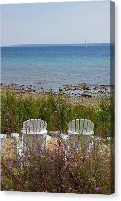 Mackinac View Canvas Print by Randy Pollard
