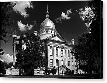 Macoupin County Courthouse Canvas Print by Jeff Burton