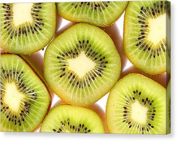 Macro Kiwi  Canvas Print by Susan Moore
