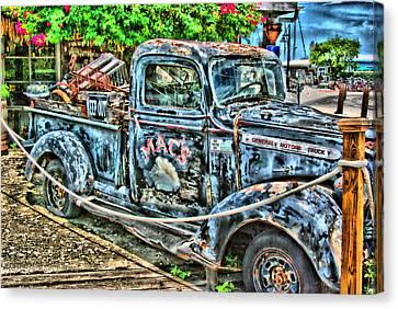 Mac's Truck Canvas Print
