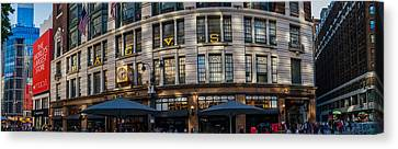 Canvas Print featuring the photograph Macy's New York Panoramic by Chris McKenna