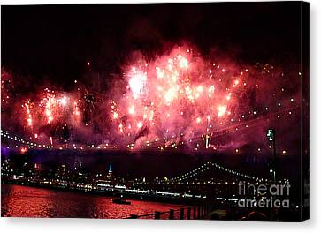 Macy's Spectactual 2014 Fireworks Canvas Print