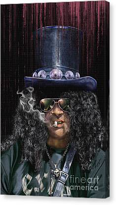 Mad As A Hatter - Slash Canvas Print by Reggie Duffie