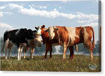 Mad Cows Canvas Print by Daniel Eskridge