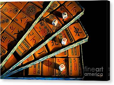 Mad For Mahjong Canvas Print by Lois Bryan