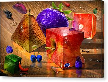 Mad Fruit Canvas Print by Mal Bray