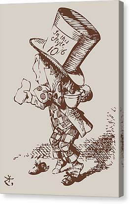 Mad Hatter Canvas Print - Mad Hatter Tea Colored by