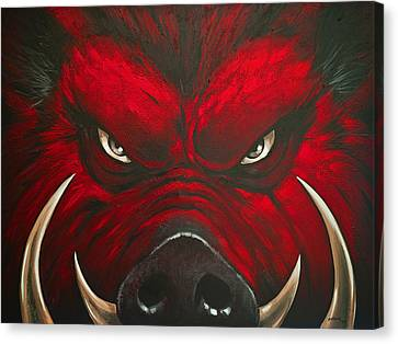 Razorbacks Canvas Print - Mad Hog by Glenn Pollard