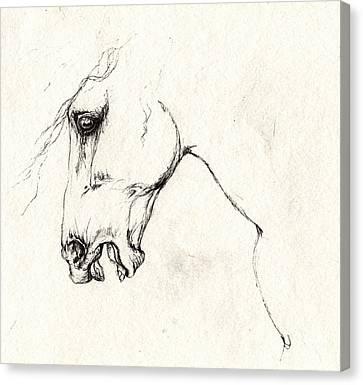 Wild Horses Canvas Print - Mad Horse by Angel  Tarantella