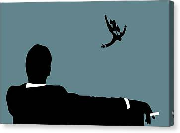 Francis Canvas Print - Mad Men On Blue by Dan Sproul