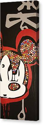 Mad Mouse Canvas Print by Voodo Fe Culture
