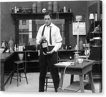 Mad Scientist In His Lab Canvas Print by Underwood Archives
