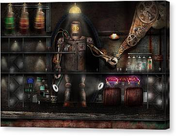 Mad Scientist - The Enforcer Canvas Print by Mike Savad