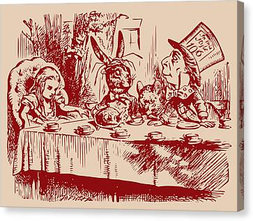Mad Tea Party Canvas Print by