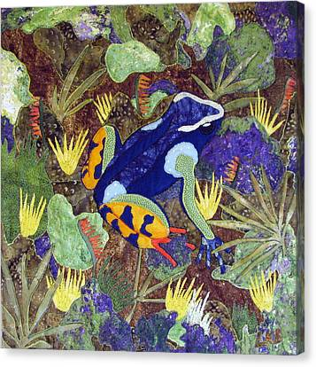 Madagascar Mantella Canvas Print by Lynda K Boardman