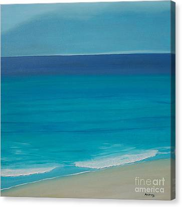 Canvas Print featuring the painting Madagascar by Mini Arora