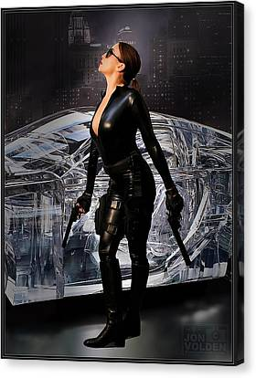 Madam Matrix Canvas Print