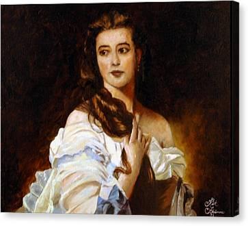 Madame Barbe De Rimsky Korsakov Canvas Print by Rick Fitzsimons