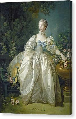 Full-length Portrait Canvas Print - Madame Bergeret, C. 1766 Oil On Canvas by Francois Boucher