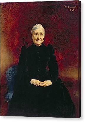 Madame Bonnat, The Artists Mother, 1893 Canvas Print by Leon Joseph Florentin Bonnat