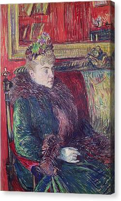 Madame De Gortzikoff, 1893 Oil On Canvas Canvas Print by Henri de Toulouse-Lautrec