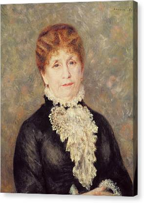 Madame Eugene Fould Canvas Print by Pierre Auguste Renoir
