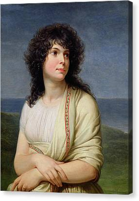 Madame Hamelin 1776-1851 Oil On Canvas Canvas Print