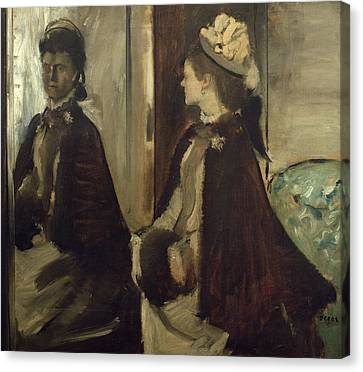 Madame Jeantaud In The Mirror, C.1875 Oil On Canvas Canvas Print