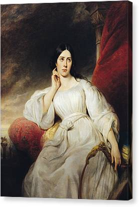 Madame Malibran 1808-36 In The Role Of Desdemona, 1830 Oil On Canvas Canvas Print