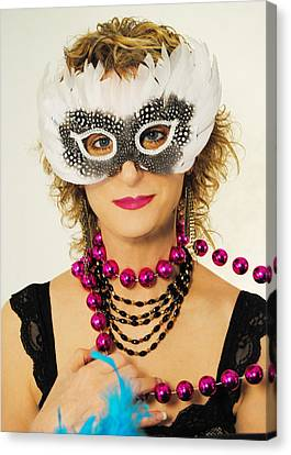 Madame Mardi Gras  Canvas Print by ARTography by Pamela Smale Williams