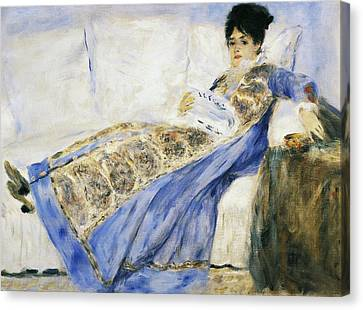 Madame Monet Reading Canvas Print