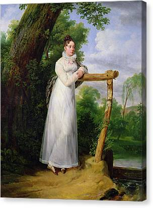 Full-length Portrait Canvas Print - Madame Philippe Lenoir 1792-1874 1814 Oil On Canvas by Emile Jean Horace Vernet