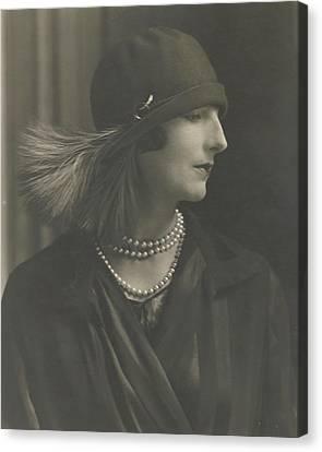 Cloche Hat Canvas Print - Madame Porel Wearing An Alex Hat by Edward Steichen