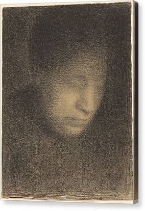 Madame Seurat The Artist's Mother Canvas Print by Georges Seurat