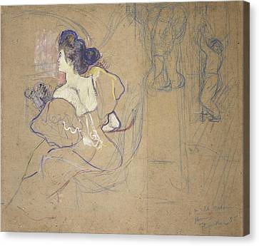 Madame Thad�e Natanson Misia Godebska Canvas Print by Henri de Toulouse-Lautrec