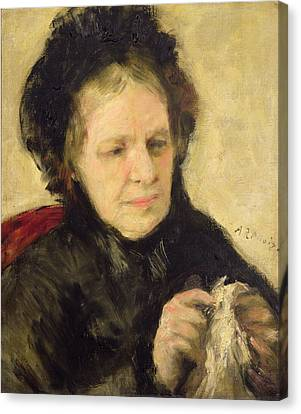 Madame Theodore Charpentier Canvas Print by Pierre Auguste Renoir
