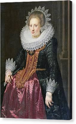 Madame Vrijdags Van Vollehoven Canvas Print by Jan Anthonisz van Ravestyn