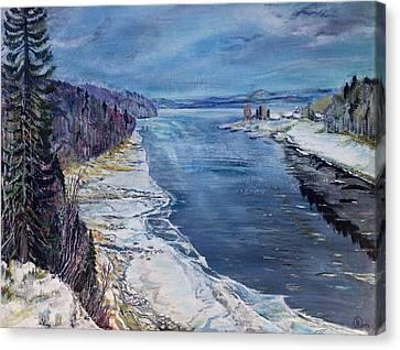 Madawaska Canvas Print by Iya Carson