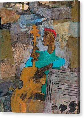 Canvas Print featuring the mixed media Madcap Bass by Catherine Redmayne