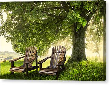 Made In The Shade Canvas Print by Debra and Dave Vanderlaan