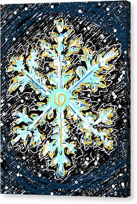 Madeline Snowflake Canvas Print by Jean Pacheco Ravinski