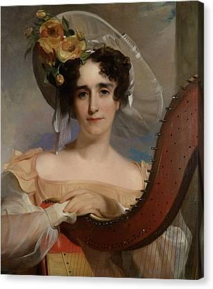 Mademoiselle Ade Sigoigne Canvas Print by Thomas Sully