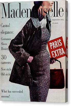 Mademoiselle Cover Featuring A Model Wearing Canvas Print by Stephen Colhoun